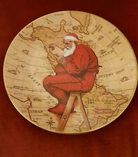 NORMAN ROCKWELL CHRISTMAS PLATE SANTA PLANS HIS VISIT 1981