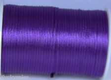 Hot 10yard purple 2MM Rattail Satin Cord Macrame Beading Nylon Chinese knot rope