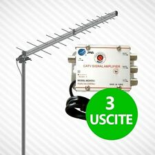 AMPLIFICATORE SEGNALE ANTENNA TV DIGITALE TERRESTRE AMPLIFICA 3 USCITE PALO