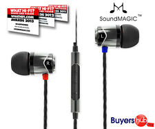 SoundMAGIC E10C In-Ear Smartphone Mobile Headphones with MICROPHONE Black Silver