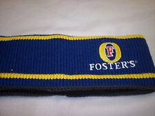 Foster's Head Band  Blue, Yellow & Grey,  100% acrylic