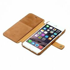 Zenus Vintage Quilt Diary Nubuck Leather Cover Case for iPhone 6 Plus 5.5""