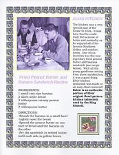 Elvis Presley Personal Owned Used Tablecloth Swatch w/ Recipe!