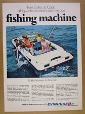 1969 Evinrude Sport Fisherman Boat color photo vintage print Ad