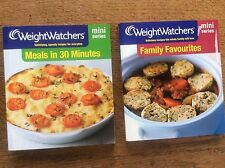 2 WeightWatchers Books Mini Series Meals in 30 Minutes & Family Favourites book