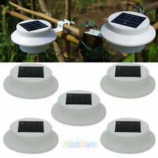 5x Solar Power Powered Outdoor Garden Light Gutter Fence LED Wall With Bracket