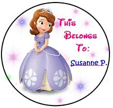 24 Personalized Sofia The First Property Stickers for school books and more