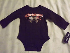 "INFANT GIRL ""CHRISTMAS ROCKS"" ONESIE by BABY GLAM  sz 6 month NEW"