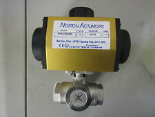 Actuated Valve Stainless Steel 3 Way Ball Valve 'L' Bore, 3/4in Pipe - 7998771