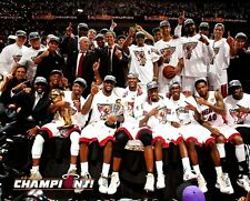 Dwyane Wade & Lebron James Miami Heat 2012 NBA Champions Team 8x10 Color Photo