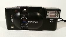 Olympus XA4 Macro Camera With A11 Electronic Flash -Untested 28 mm F. Zuiko 3.5