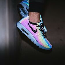 Max 1 Ultra Moire Nike Air Hologram Iridiscente Estaño UK 8 nos 9 90 95 98 Prm Qs