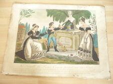 LA FAMILLE DU PRINCE EUGENE DE BEAUHARNAIS PRIANT SUR SA TOMBE 1820 ORIGINAL