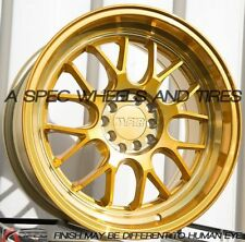 17X8.5 +35 GOLD F1R F21 5X100 Wheel Fits Corrado Cabriolet Scion Tc