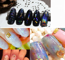 6pcs/Set Glitter Starry Sky Nail Art Transfer Sticker Transparent Nail Foils