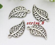 100/500pcs Antique Silver/Bronze maple leaf Fit DIY Making Charm Pendant 18x10mm