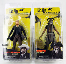 NECA The Lone Ranger Tonto With Birdcage & Lone Ranger Unmasked Action Figure