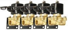 "Air Bag Suspension Brass Valves Four 3/8""npt & Mounting Brackets Air Bag System"