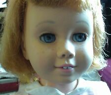 VINTAGE 1961 MATTEL BLONDE CHATTY CATHY DOLL WITH PINK DRESS POINTED FINGER