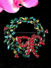 RARE DAVID MANDEL BETTINA VON WALHOF THE SHOW MUST GO ON TREMBLER WREATH BROOCH