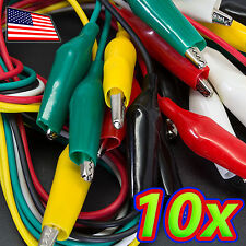 [10x] 20in Double-ended Alligator Clip Test Leads / Wire Jumpers for Electronics