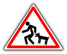 "Caution Wicked Dog Warning Sign Funny Car Bumper Sticker Decal 5"" x 4"""