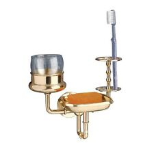 Brass Toothbrush Cup Tumbler Holder Soap Dish 3 in 1 | Renovator's Supply