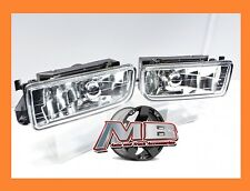 92-99 BMW E36 M3 3 Series Fog Lights Front Bumper Lamps Clear Glass Lens PAIR