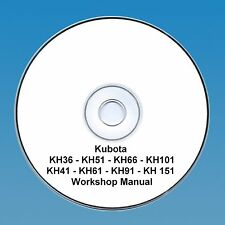 Kubota KH 36-151 Series Excavator / Digger - Workshop Manual.