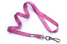 LOT OF 100 PINK RIBBON LANYARDS with Hook Breast Cancer Awareness