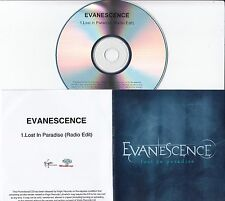 EVANESCENCE Lost In Paradise 2012 UK 1-track promo test CD