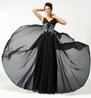 CHEAP Formal LONG Prom Ball Gowns Evening Party Bridesmaid Maxi Dresses UK 6~20