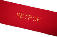 Petrof Piano Key Cover - Red Felt Embroidered Keyboard Cover