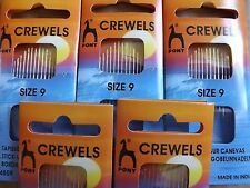 Pony Gold Eye Hand Sewing Needles - Crewels Size 9