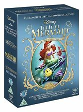 LITTLE MERMAID Trilogy DVD Movie Collection Boxset Part 1 2 3 Disney 1-3 NEW UK