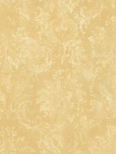 Gold Wheat Victorian Damask SD25655 Wallpaper Double Roll FREE SHIPPING