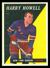 1958 59 TOPPS HOCKEY #60 HARRY HOWELL EX+ N Y NEW YORK RANGERS card