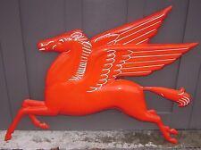 Mobil Oil FLYING HORSE PEGASUS --- original vintage porcelain sign --- rare