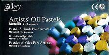 MUNGYO 12-PIECE METALLIC OIL PASTELS ~ NEW PASTEL SET ~ FREE SHIPPING!!