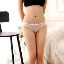 Fashion Sexy Women's Lace Lingerie Underwear Crotchless Thongs G-string Panties