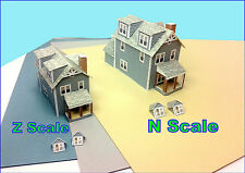 N Scale Card Model Gabled House - BHC#1
