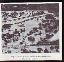 1916  --  VILLE DE PUEBLO SOUS INONDATION  H550