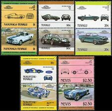 CARROLL SHELBY (Mustang Cobra 289 Daytona GT 40 350 500) Car Stamp Collection