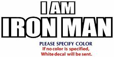 I Am Iron Man Game Movie TV Funny JDM Vinyl Sticker Decal Car Window Wall 7""