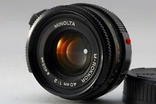 【B- Good】 MINOLTA M ROKKOR 40mm f/2 MF Lens for Leica CL CLE From JAPAN #2616