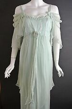 Romantic Vintage Style Dresses Nataya Dress Mint Green Formal Plus 1X Victorian