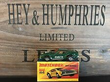 matchbox superfast no.44B Rare USA Green Version mint OVP D-2 excellent 1971/80