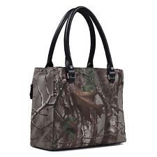 Brown Camo Concealed Carry Tote Purse Concealment Handbag