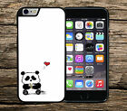 Cute Panda Love Heart Song iPhone 4/4s SE 5/5s 5c 6/6s 6+/6s+ Phone Case/Cover