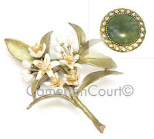 Orange Blossom Brooch Pin by Michael Michaud + FREE Irish Connemara Marble Gift!